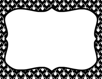 Blank Page or Poster Templates (11x8.5) - Basics: Diamond Scallops & White
