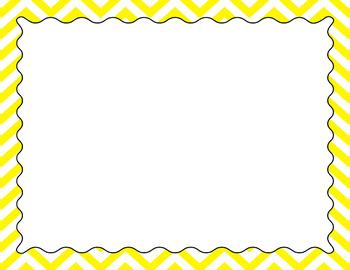 Blank Poster Templates (11x8.5) Essentials & White: Jumbo Chevron