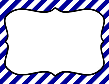 Blank Page or Poster Templates (11x8.5) - Basics: Jumbo Diag. Stripes & White