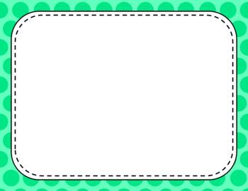 Blank Page or Poster Templates (11x8.5) - Basics: Jumbo Polka Dots