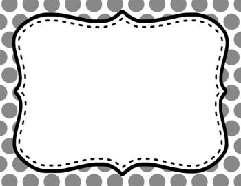 Blank Page or Poster Templates (11x8.5) - Basics: Jumbo Polka Dots & White