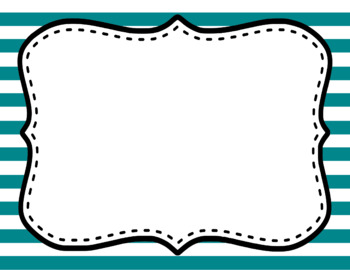 Blank Page or Poster Templates (11x8.5) - Basics: Jumbo Stripes & White