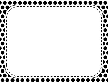 Blank Page or Poster Templates (11x8.5) - Basics: Polka Dots & White