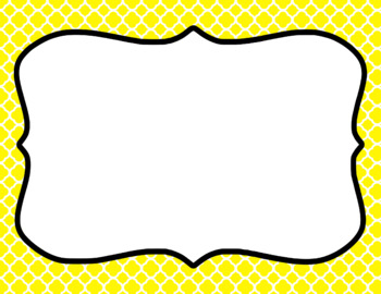 Blank Page or Poster Templates (11x8.5) - Basics: Quatrefoil & White