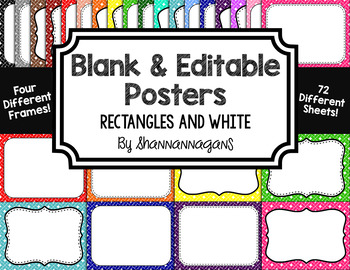 Blank Page or Poster Templates (11x8.5) - Basics: Rectangles & White
