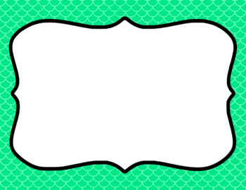 Blank Page or Poster Templates (11x8.5) - Basics: Scalloped