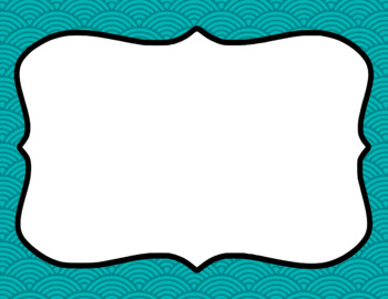 Blank Page or Poster Templates (11x8.5) - Basics: Scalloped Lined