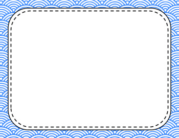Blank Page or Poster Templates (11x8.5) - Basics: Scalloped Lined & White