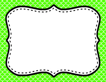 Blank Page or Poster Templates (11x8.5) - Basics: Scalloped & White