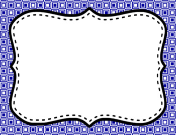 Blank Page or Poster Templates (11x8.5) - Basics: Squares & White