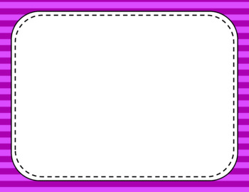 Blank Page or Poster Templates (11x8.5) - Basics: Stripes