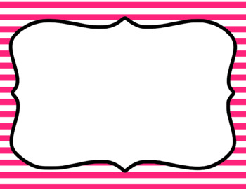 Blank Page or Poster Templates (11x8.5) - Basics: Stripes & White