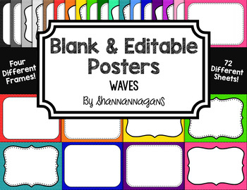 Blank Page or Poster Templates (11x8.5) - Basics: Waves