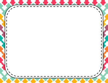 Blank Page or Poster Templates (11x8.5) - Bohemian