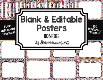 Blank Page or Poster Templates (11x8.5) - Bonfire