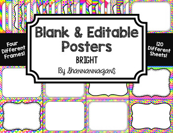Blank Page or Poster Templates (11x8.5) - Bright