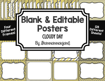 Blank Page or Poster Templates (11x8.5) - Cloudy Day