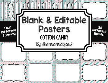 Blank Page or Poster Templates (11x8.5) - Coastal Affair