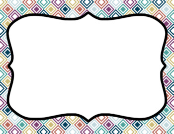 Blank Page or Poster Templates (11x8.5) - Comfort