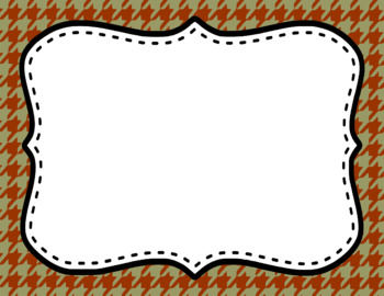 Blank Page or Poster Templates (11x8.5) - Crunchy Leaves