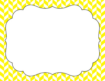 Blank Poster Templates (11x8.5) Essentials & White: Divided Chevron
