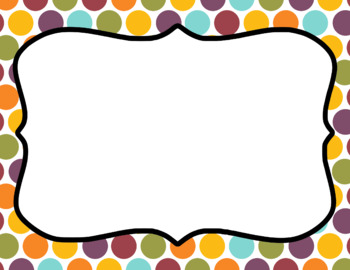Blank Page or Poster Templates (11x8.5) - Fair