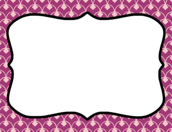 Blank Page or Poster Templates (11x8.5) - Girly