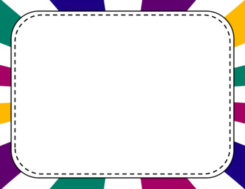 Blank Page or Poster Templates (11x8.5) - Jewel