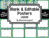 Blank Page or Poster Templates (11x8.5) - Lagoon