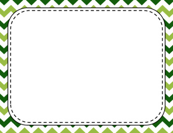 Blank Page or Poster Templates (11x8.5) - Leafy Green