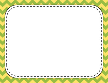 Blank Page or Poster Templates (11x8.5) - Lemongrass