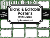 Blank Page or Poster Templates (11x8.5) - Mountain Fog