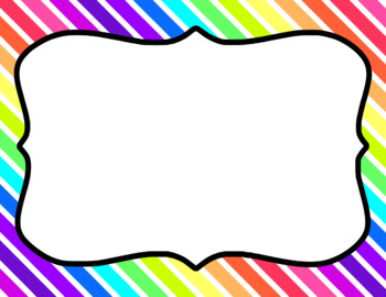 Blank Page or Poster Templates (11x8.5) - Neon Rainbow