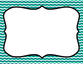 Blank Page or Poster Templates (11x8.5) - Ocean Waves