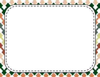 Blank Page or Poster Templates (11x8.5) - Organic