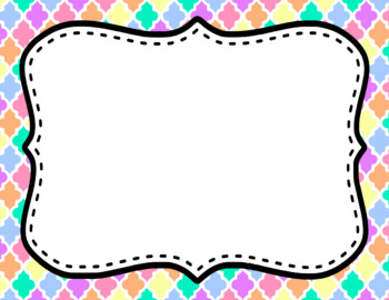 Blank Page or Poster Templates (11x8.5) - Pastel
