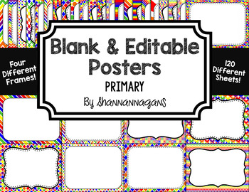 Blank Page or Poster Templates (11x8.5) - Primary