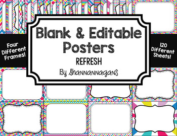Blank Page or Poster Templates (11x8.5) - Refresh