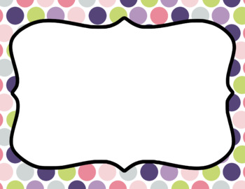 Blank Page or Poster Templates (11x8.5) - Spring Garden