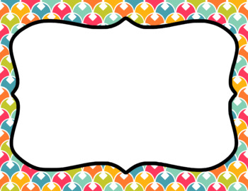 Blank Page or Poster Templates (11x8.5) - Sweet Summertime