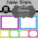 Blank Poster Templates (11x8.5) Essentials: Chevron