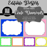 Blank Poster Templates (11x8.5) Essentials: Circle Diamonds