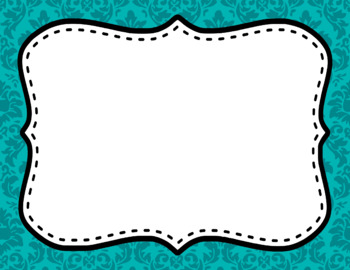 Blank Page or Poster Templates (11x8.5) - Basics: Damask