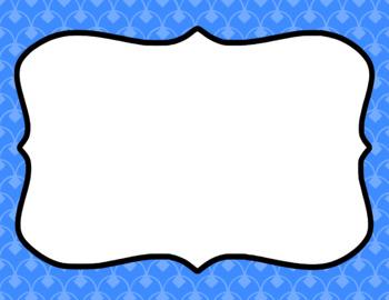 Blank Page or Poster Templates (11x8.5) - Basics: Diamond Scallops