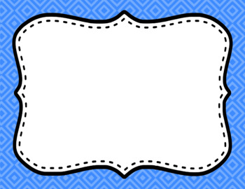 Blank Page or Poster Templates (11x8.5) - Basics: Diamonds