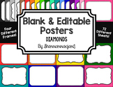 Blank Page or Poster Templates (11x8.5) - Basics: Diamonds