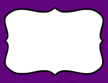 Blank Page or Poster Templates (11x8.5) - Basics: Greek Key