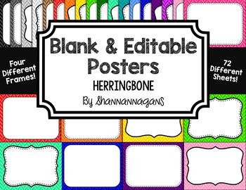 Blank Page or Poster Templates (11x8.5) - Basics: Herringbone