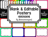 Blank Page or Poster Templates (11x8.5) - Basics: Herringbone