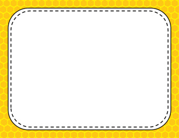 Blank Page or Poster Templates (11x8.5) - Basics: Honeycomb
